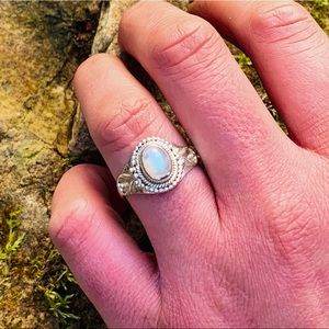 """Exploring Eden""-.925 Sterling Moonstone Ring"